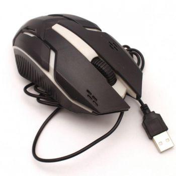 Игровая проводная мышка Q52 3200 DPI мышь компьютерная геймерская LED подсветка черная