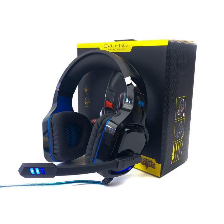 Игровые наушники Ovleng GT96 с микрофоном и RGB подсветкой геймерские для компьютера и ноутбука (1032)