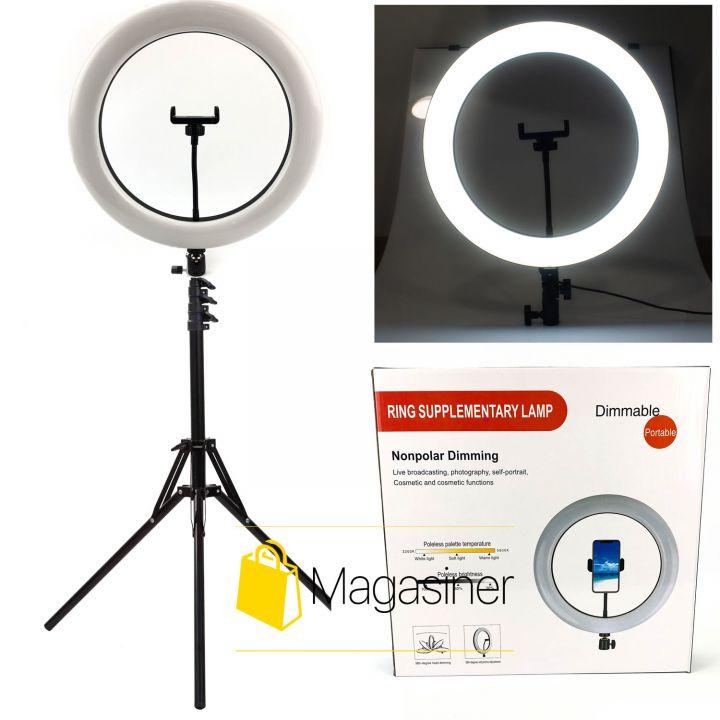 Кольцевой свет (селфи кольцо) 36 см DIMMABLE с штативом 2,1 м для блогера / селфи / фотографа / визажиста (1036-tg)