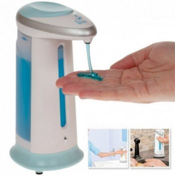 Сенсорный диспенсер для жидкого мыла и антисептика дозатор мыльница Soap Magic Белый