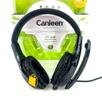 Игровые проводные наушники с микрофоном Canleen CT-660 для геймеров, ПК, PS и Xbox (1057)