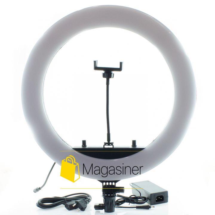 Кольцевая лампа (селфи кольцо) 45 см HQ-18 для блогера / селфи / фотографа / визажиста (1061-no_tripod)