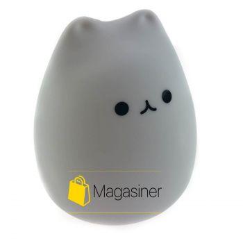 Ночной светильник LED силиконовый детский Котик UTM 7-цветной режим Plus