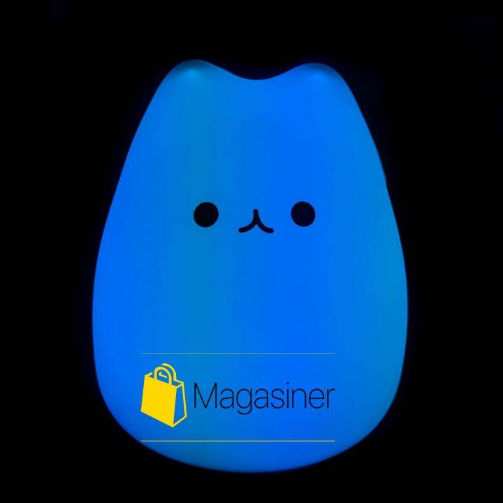 Детский силиконовый неоновый ночник Little Cat Silicone Light LED (1064)