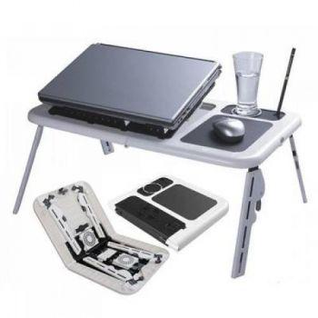 Подставка столик E-Table LD09 раскладной трансформер для ноутбука с 2 USB кулерами охлаждения E-Table LD09