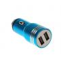 Автомобильное зарядное устройство 12v CAR USB Hammer HF-01 (2 USB разъёма) 2.1A адаптер в прикуриватель синий