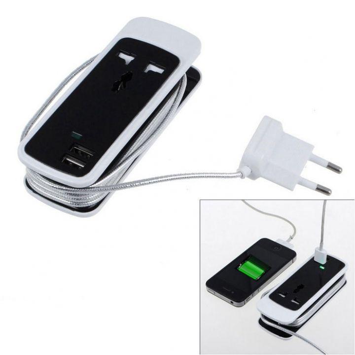 Сетевой фильтр удлинитель на 1 розетку и 2 USB порта переноска