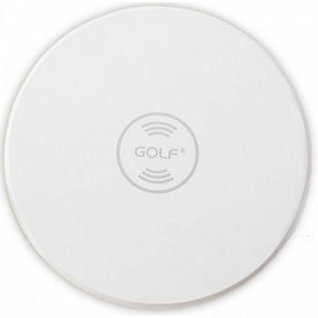 Беспроводная индукционная зарядка qi для телефона Golf GF-WQ3 Wireless Charger Белая 5 Вт зарядное устройство для самсунг iphone xiaomi поддерживающие беспроводную зарядку белая