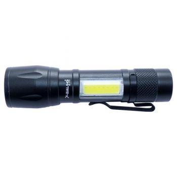 Компактный мощный аккумуляторный LED фонарик USB COP BL-513 светодиодный с фокусировкой