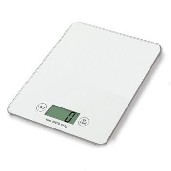Кухонные электронные весы 5 кг Electronic Kitchen Scale B05 точные весы для продуктов погрешность 1 г стеклянные белые