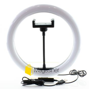 Кольцевая лампа (кольцевой свет) 26 см для блогера / селфи / фотографа / визажиста (1012-no_tripod)
