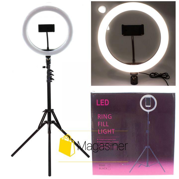Кольцевая лампа (кольцевой свет) 26 см с штативом 2м для блогера / селфи / фотографа / визажиста (1012)