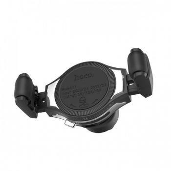 Автомобильный держатель для телефона Hoco S1 с беспроводной зарядкой в машину