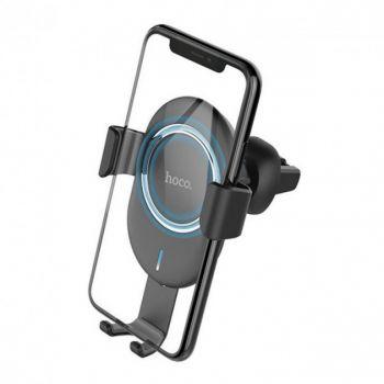 Автомобильный держатель для телефона Hoco CW17 с беспроводной зарядкой в машину