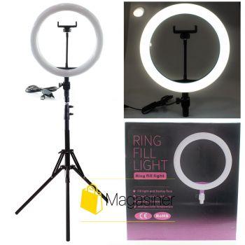 Селфи кольцо (кольцевая лампа) 26 см ZD666 с штативом 2м для блогера / селфи / фотографа / визажиста (1102-tg)