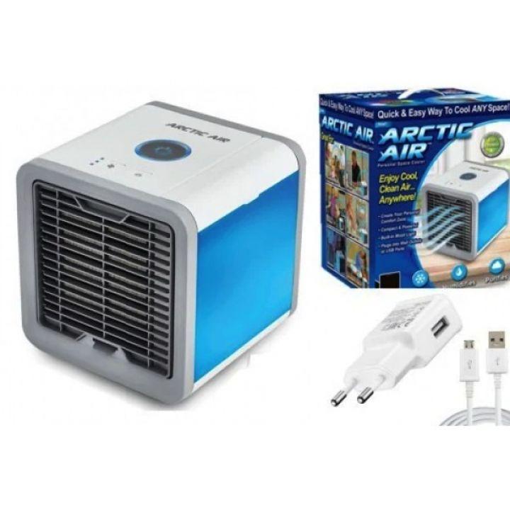 Портативный мобильный кондиционер 4в1 охладитель и увлажнитель освежитель воздуха, ночник Rovus Arctic Air