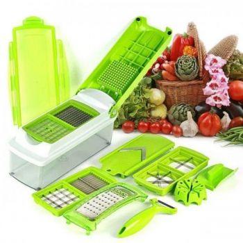 Многофункциональная ручная кухонная овощерезка мультислайсер измельчитель Nicer Dicer Plus с контейнером
