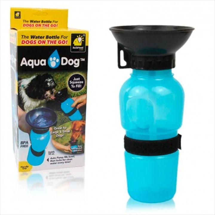 Прогулочная бутылка с чашей поилкой для собак Aqua dog Petshy Pet Bottle 550 МЛ
