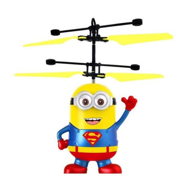 Детская летающая игрушка вертолет Летающий Миньон Супермен BauTech инфракрасная индукционная