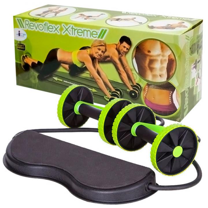 Тренажер Revoflex Xtreme для тренировки пресса рук ягодиц и спины Black-green