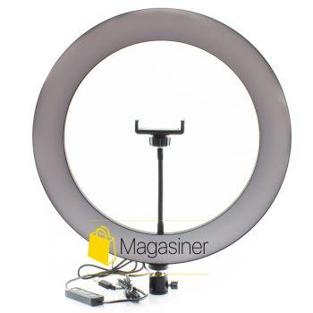 Кольцевая лампа (селфи кольцо) 36 см для блогера / селфи / фотографа / визажиста (1147-no_tripod)