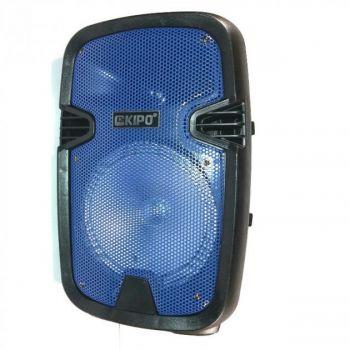 Акустическая стерео система портативная Bluetooth колонка KIPO KB-Q5 комбоусилитель с микрофоном и пультом ДУ синяя