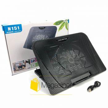 Охлаждающая подставка для ноутбука N151 регулируемая с подсветкой и вентилятором usb (1215-tg)