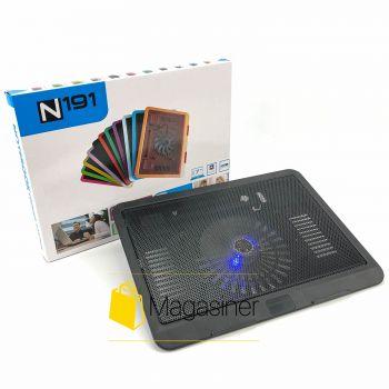Охлаждающая подставка для ноутбука N191 регулируемая с подсветкой и вентилятором usb (1218-tg)
