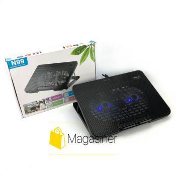 Охлаждающая подставка для ноутбука N99 регулируемая с подсветкой и вентилятором usb (1219-tg)