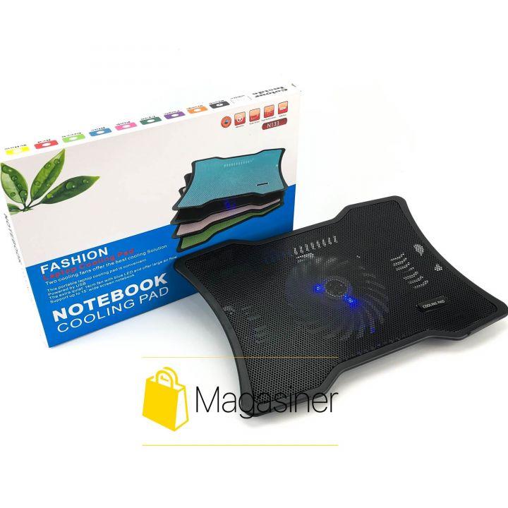 Охлаждающая подставка для ноутбука N133 с подсветкой и вентилятором usb (1220-tg)