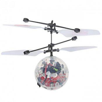 Детская летающая игрушка вертолет Летающий Шар Flying Ball YT888 инфракрасная индукционная прозрачный