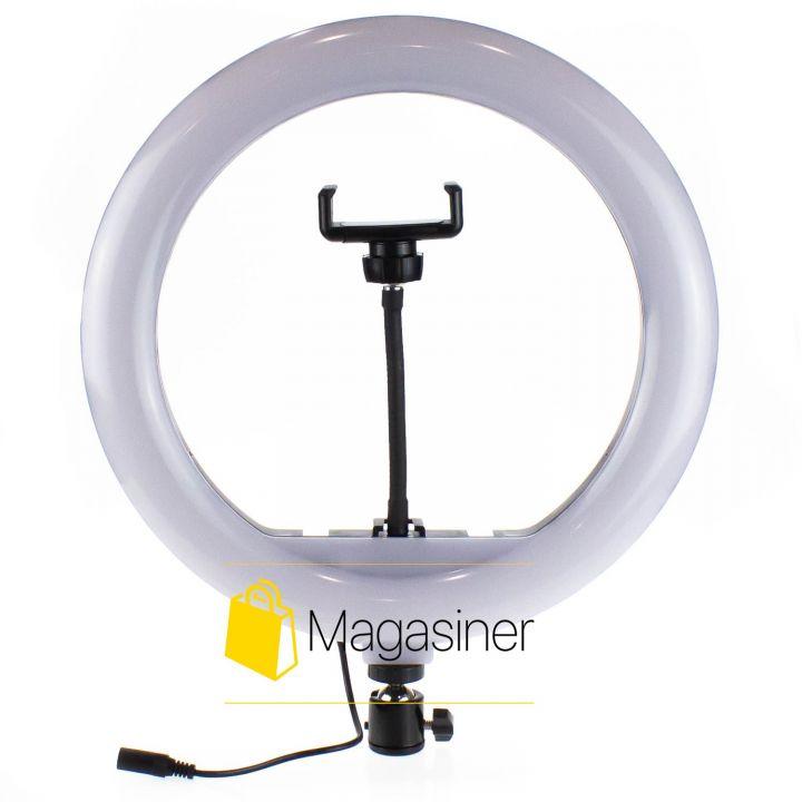Кольцевая лампа (селфи кольцо) 30 см YQ-320A с пультом для блогера / селфи / фотографа / визажиста (1237-no_tripod)