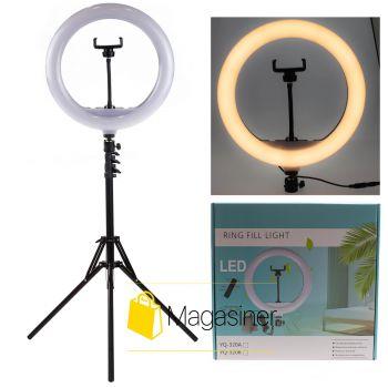Кольцевая лампа (селфи кольцо) 30 см YQ-320A с пультом для блогера с штативом 2м / селфи / фотографа / визажиста (1237-tg)