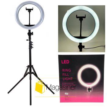 Селфи кольцо (кольцевой свет) Ring Fill Light 26 см с штативом 2м для блогера / селфи / фотографа / визажиста (1238-tg)