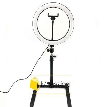 Кольцевая лампа (селфи кольцо) на стойке Led Ring Light 26 см  / селфи / фотографа / визажиста (1252-tg)
