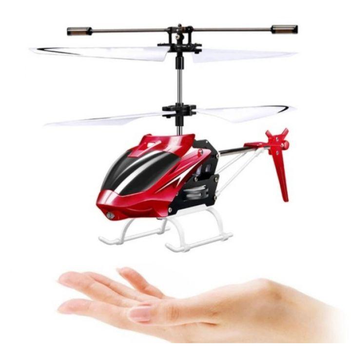 Летающий вертолет Induction aircraft с сенсорным управлением 8088 управляемый от руки красный