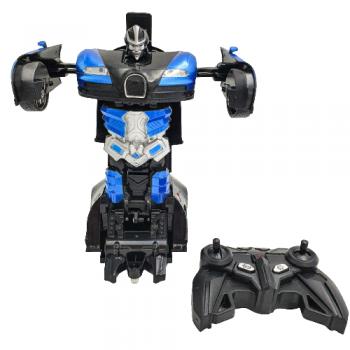 Аккумуляторная машина робот-трансформер на радиоуправлении Bugatti Veyron 1:18