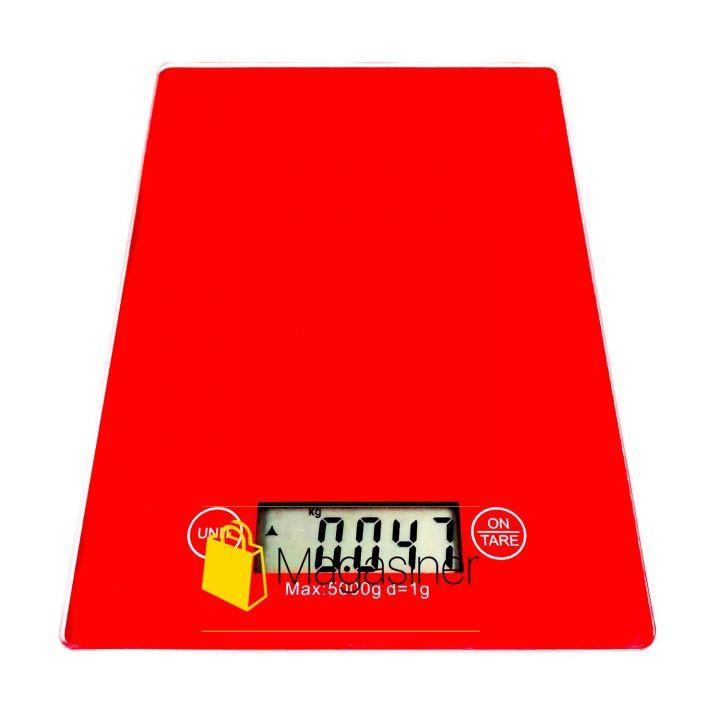 Кухонные электронные весы 5 кг Electronic Kitchen Scale красные (1283)