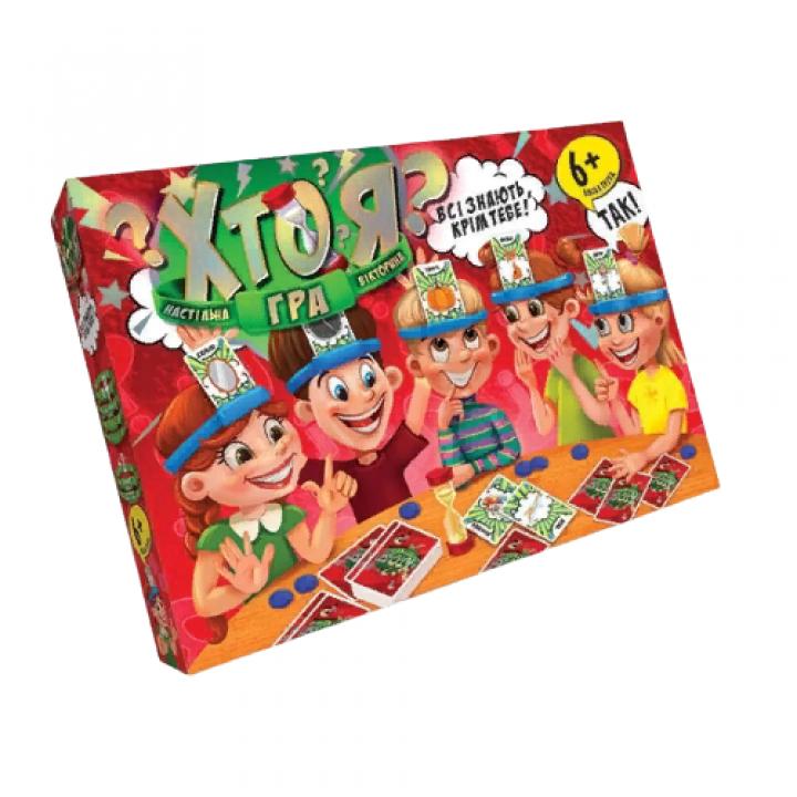 Настільна гра Вікторина для всієї родини Хто я? велика Danko toys HIM-01-02