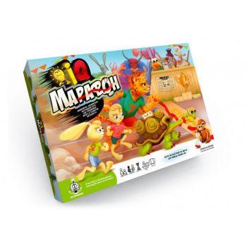 Настольная интеллектуальная развлекательная игра Danko Toys IQ-Марафон настолка для всей семьи
