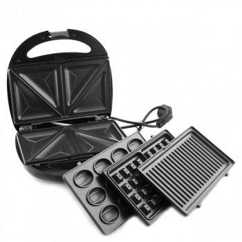 Бутербродница 4в1 гриль сендвичница вафельница GRANTHOFF GT 779 1200W мультигриль со сменными панелями