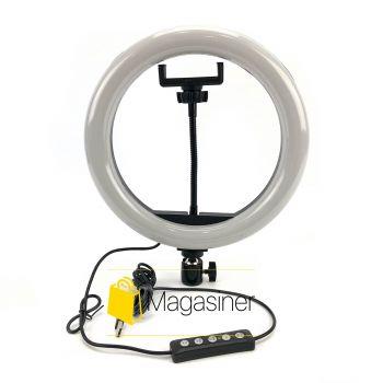 Кольцевая лампа (кольцевой свет) 26 см для блогера RGB / селфи / фотографа / визажиста (1300-no_tripod)