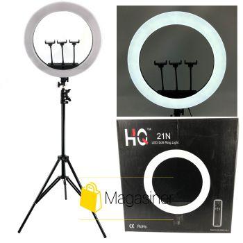 Кольцевая лампа (селфи кольцо) 52 см HQ 21N для блогера с штативом 2 метра / селфи / фотографа / визажиста (1301-tg)