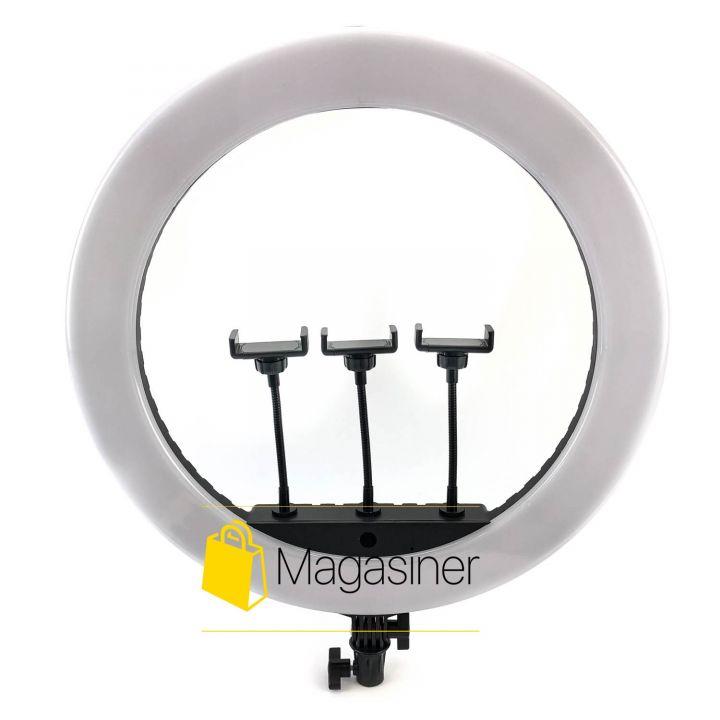 Кольцевая лампа (селфи кольцо) 52 см HQ 21N для блогера / селфи / фотографа / визажиста (1301-no_tripod)
