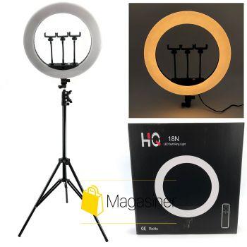 Кольцевая лампа (селфи кольцо) 44 см HQ 18N для блогера с штативом 2 метра / селфи / фотографа / визажиста (1302-tg)