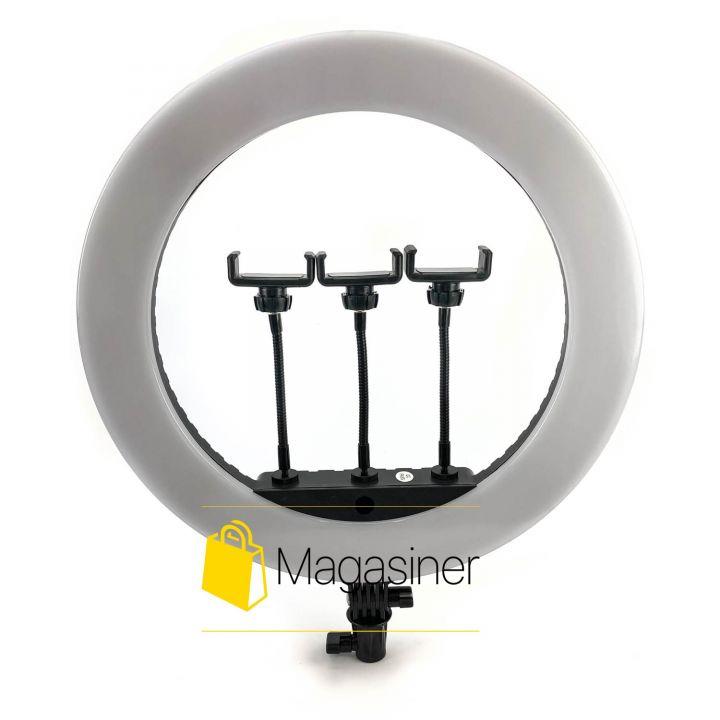 Кольцевая лампа (селфи кольцо) 44 см HQ 18N для блогера / селфи / фотографа / визажиста (1302-no_tripod)