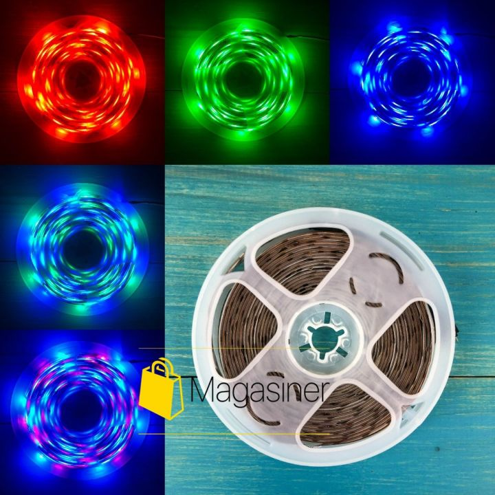 Светодиодная лента с пультом и блоком питания 300 LED RGB 5м IP68 3528 (3528 RGB)