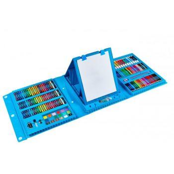 Набор для рисования с мольбертом детский Чемодан творчества 208 предметов Синий