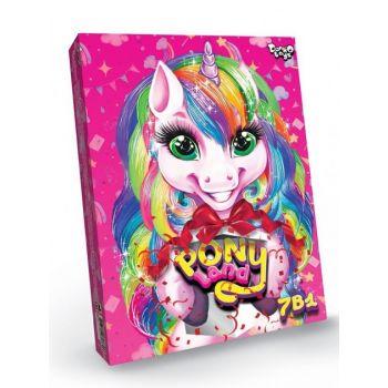 Игровой развивающий набор для девочек Pony Land 7 в 1 Danko Toys настольная игра