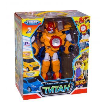 Робот трансформер Тобот Титан мини 2 в 1 Tobot Урагановый спин